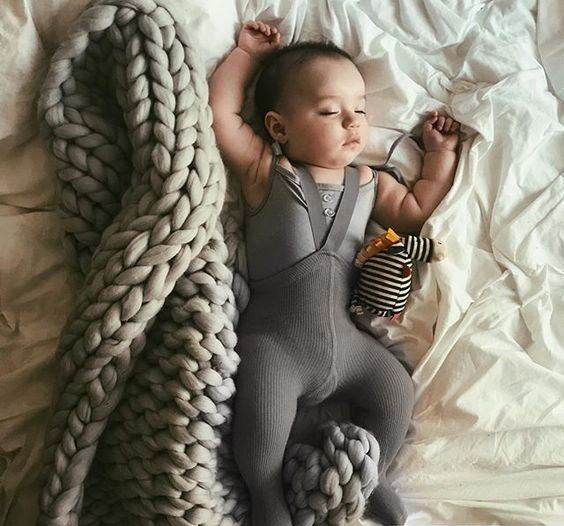 Baby Chunky Knitted Blanket